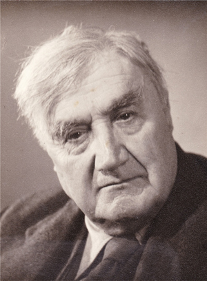 Ralph Vaughan Williams pensive portrait of the composer in his later years