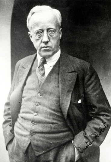 Half length portrait of Gustav Holst 1909