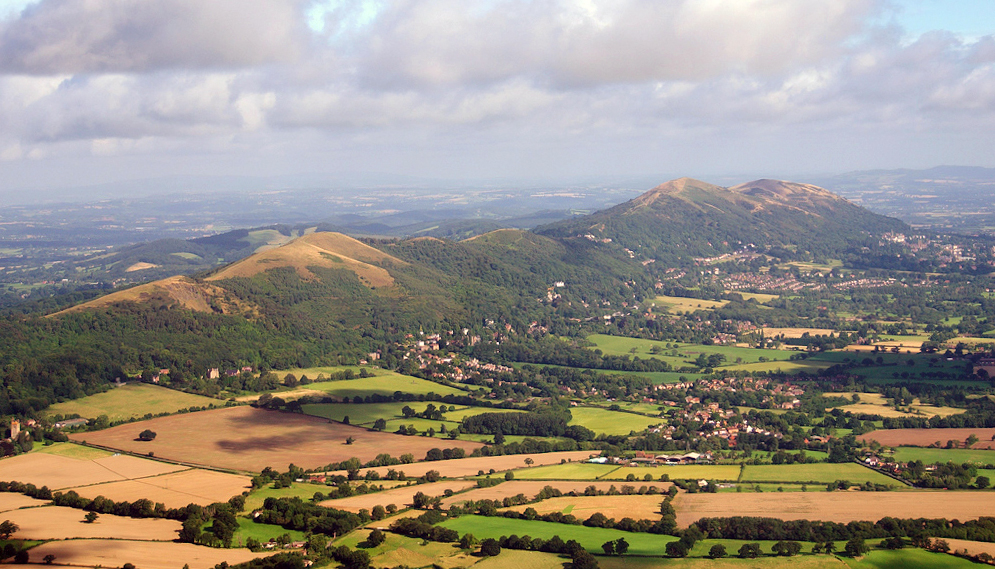 A landsacpe photography in high summer of the Malvern Hills