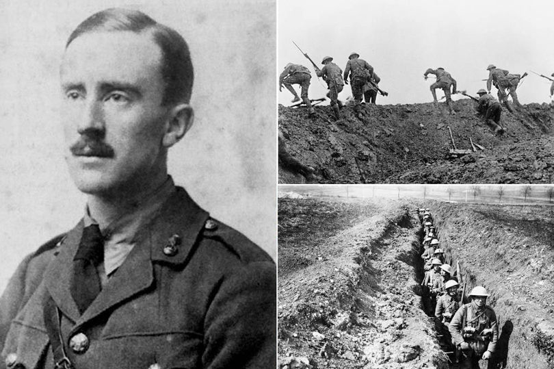 Photograph of JRR Tolkien and the Western Front, WW1 Image Courtesy Imperial War Museum