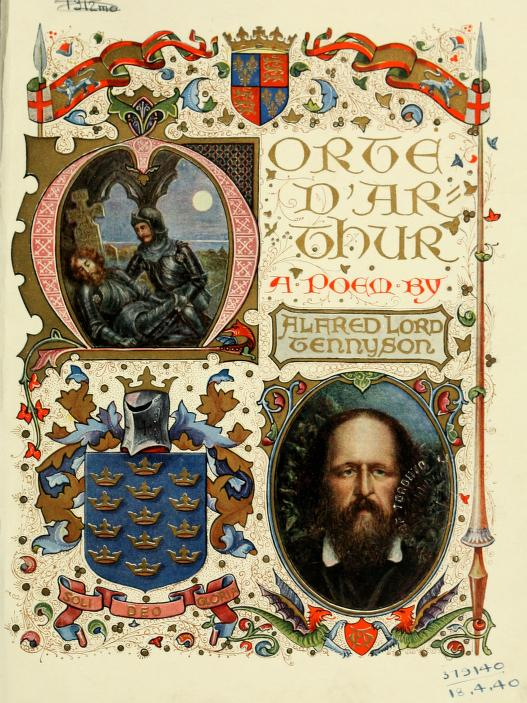 Colourful jacket cover Morte D'Arthur by Alfred Lord Tennyson c 1940