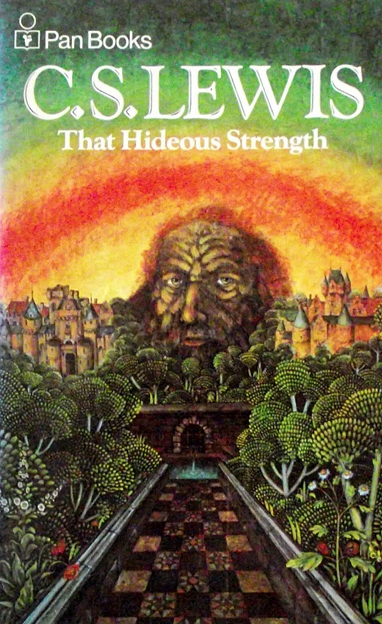 Book jacket of the Pan edition of That Hideous Strength by CS Lewis